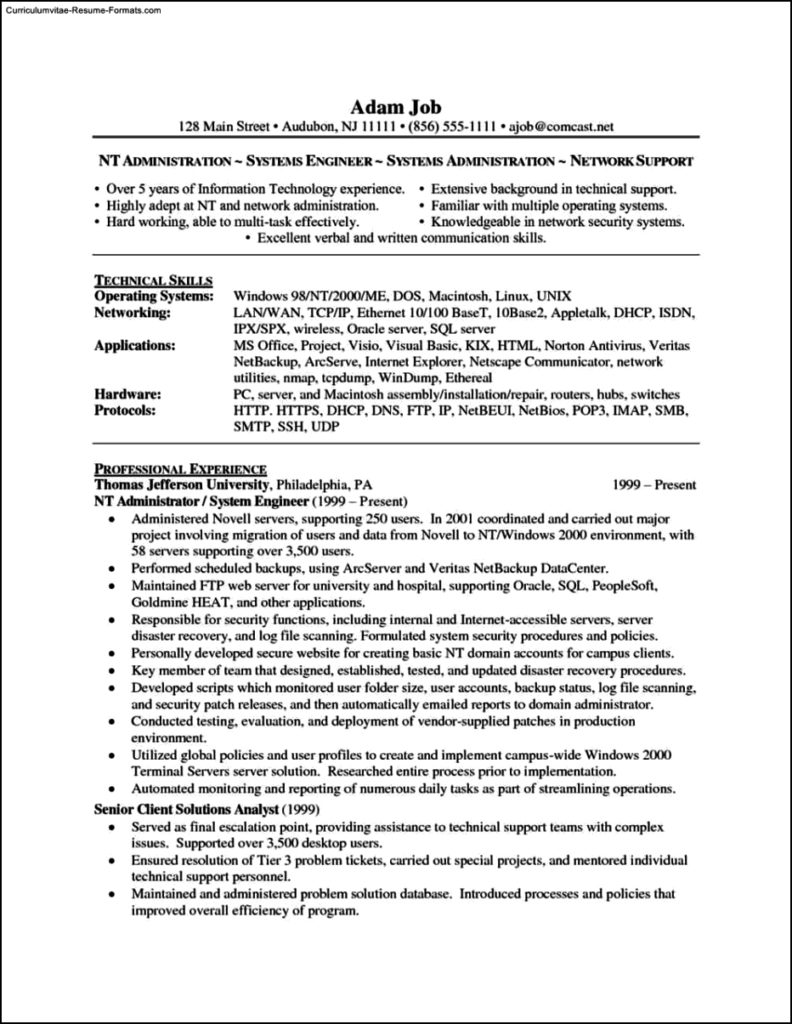 Windows Resume Template