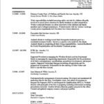 Working Resume Template