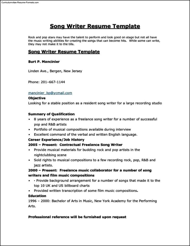 Write A Resume Template