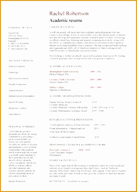 Academic resume template644460