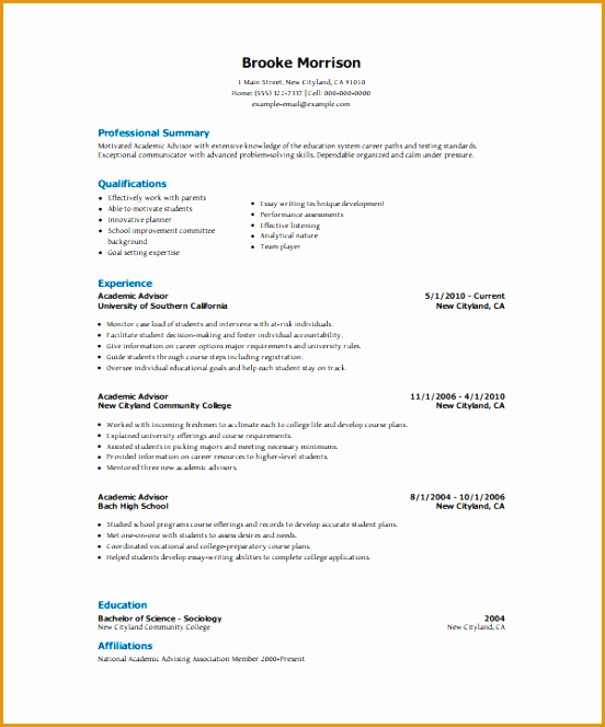 Academic Resume Template 6 Free Word Pdf Document Downloads664552
