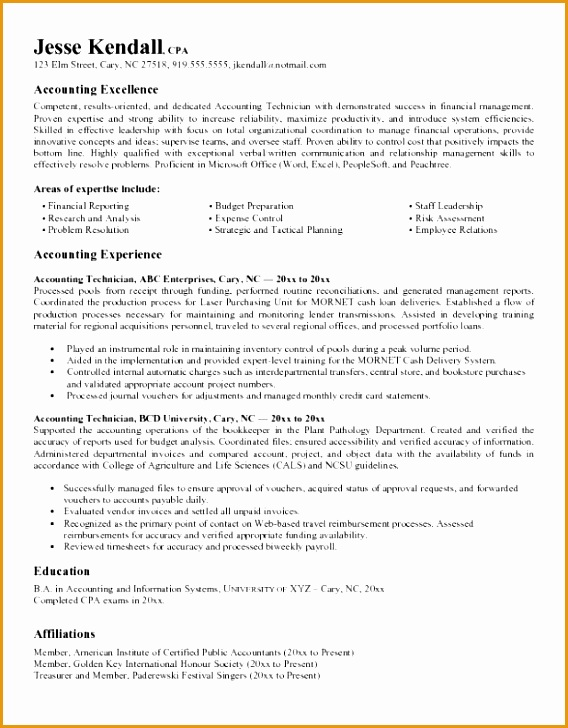 accounting resume objective samples template