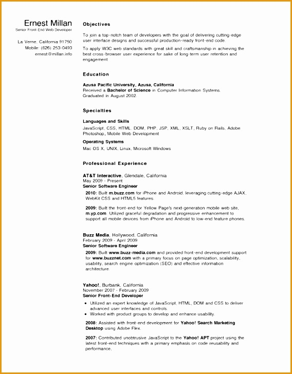 5 Android Developer Resume Free Samples Examples