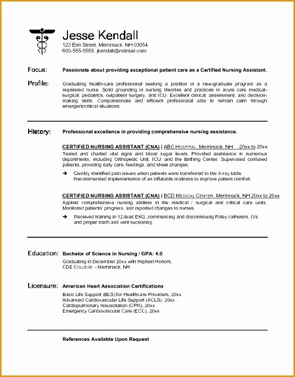 best resume cna no experience free samples examples