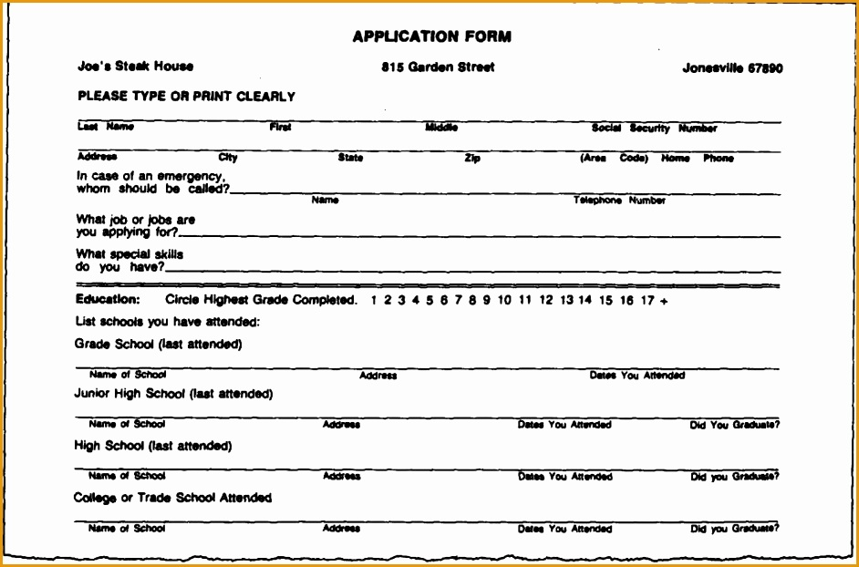 unbelievable filling out a resume 7 resume forms how to fill out blank