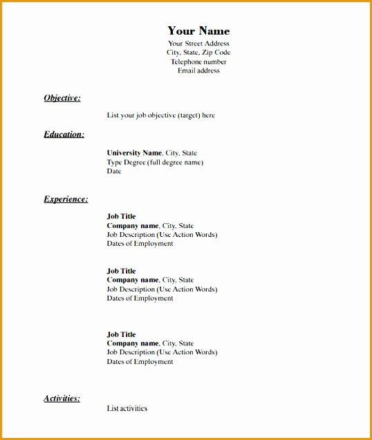 free resume template pdf 40 blank resume templates free samples examples format template