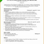 8 Civil Engineer Resume