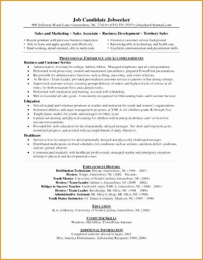 Resume Skills Excel Word