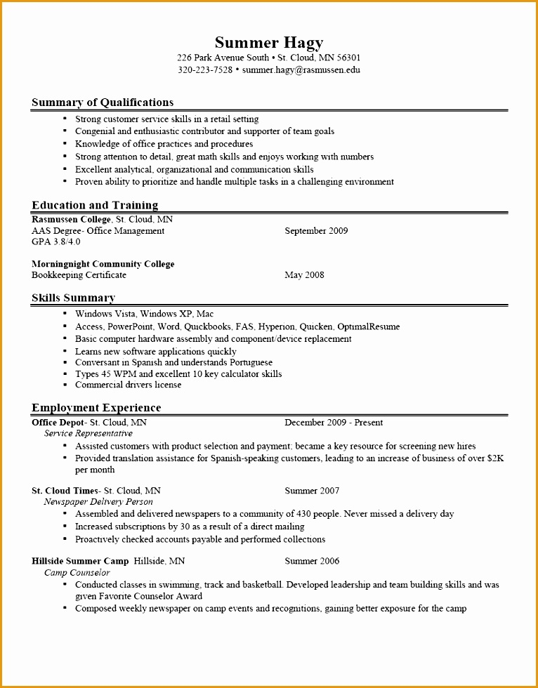 Good Resume Objective Examples Good Objective Resumes resumes Resume Profile Examples For Students