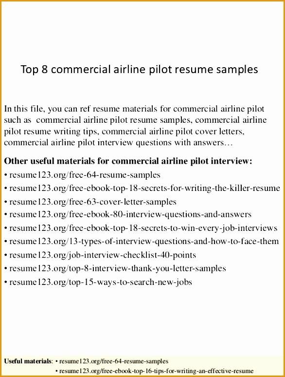 top 8 mercial airline pilot resume samples 1 638 cb=