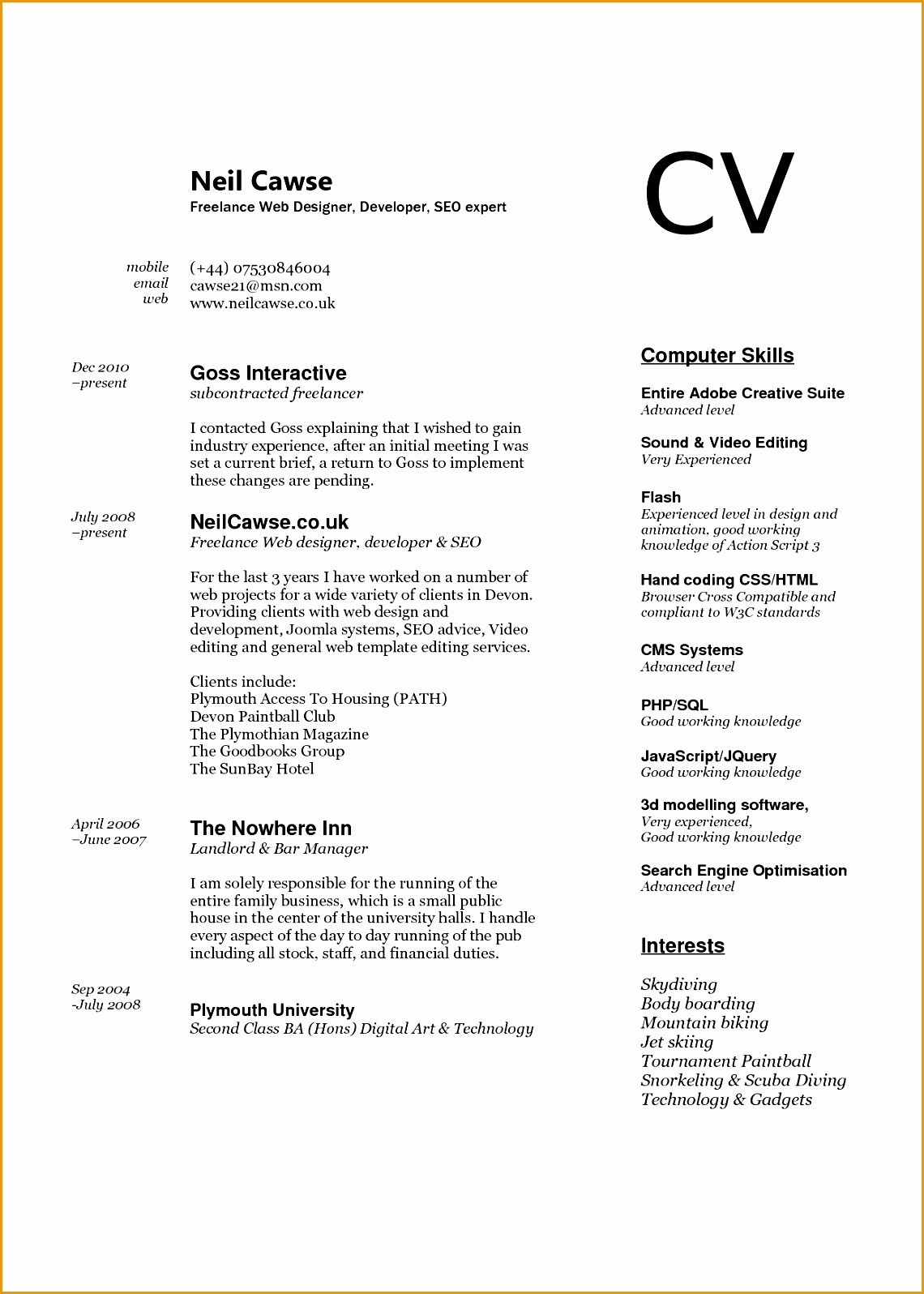 puter skills to put on resume template design