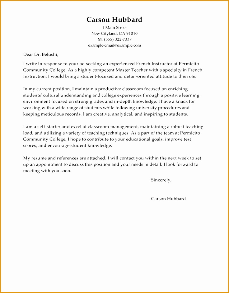 Sample Resume Bold Inspiration The Perfect Cover Letter 11 Writing The941736