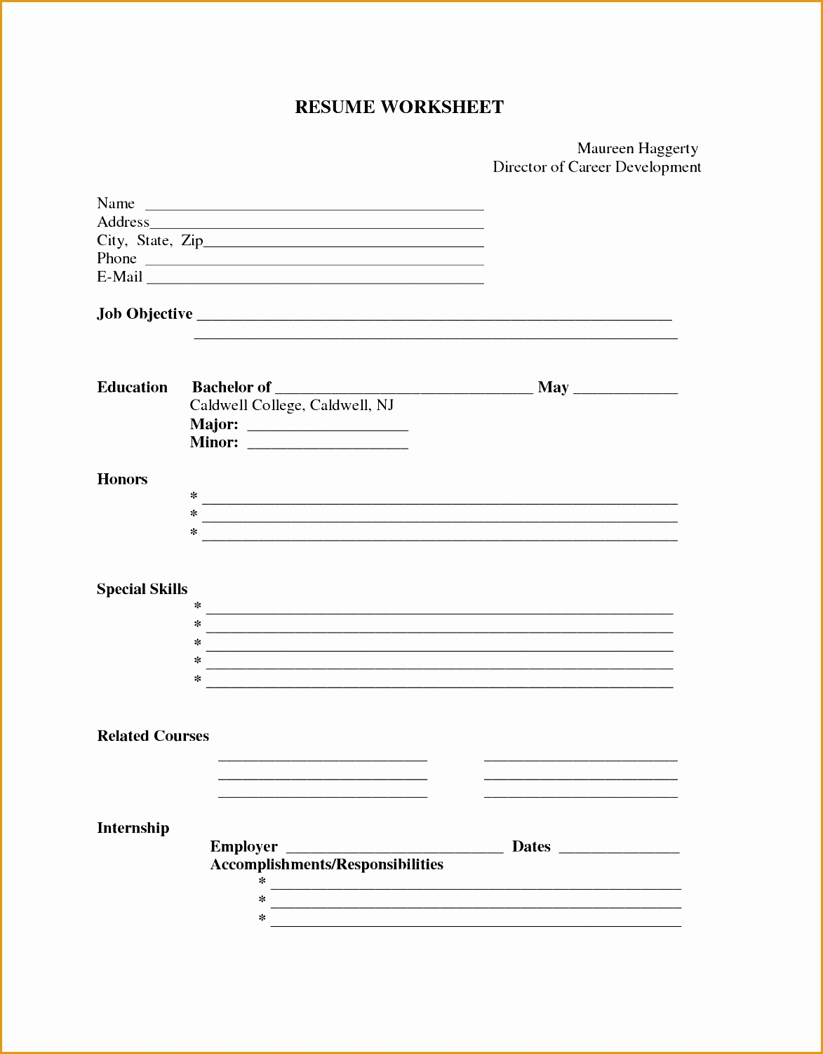 curriculum vitae blank format download