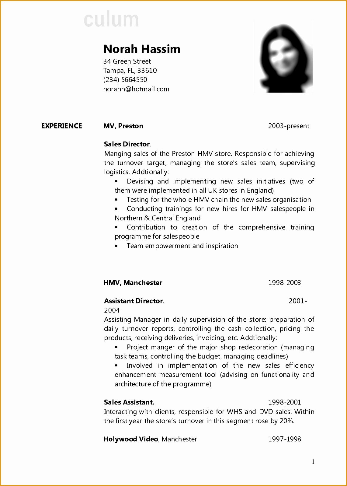 amazing inspiration ideas cv resume example 16 sample Format Curriculum Vitae Resume15971141