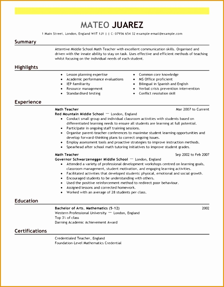 Teacher Resume Examples are really great examples of resume and curriculum vitae for those who are931727