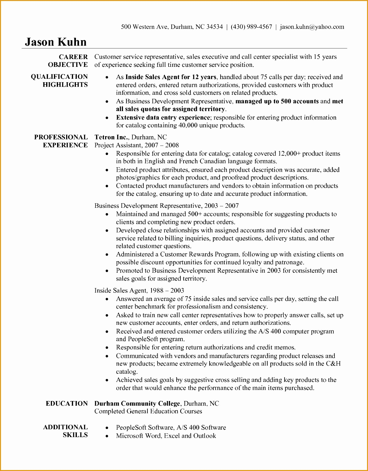 Resume Objective for Customer Service Representative Skill Resume Sample Resume with Customer Service Skills Customer15011173