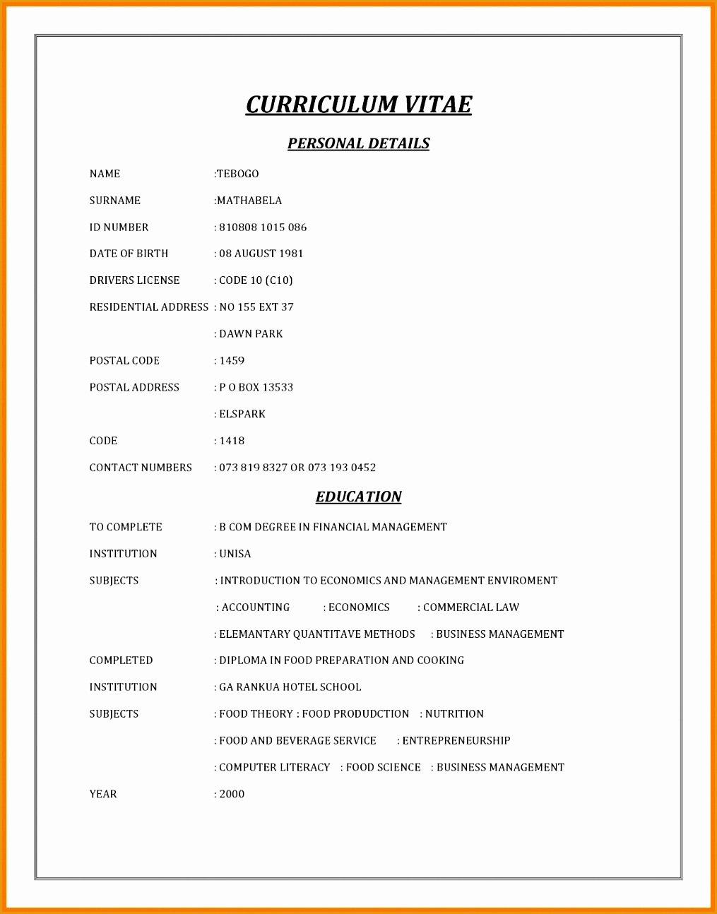 6 Cv Template In South Africa  Free Samples , Examples. Lebenslauf Europass Muster Download. Lebenslauf Vorlage Word Minijob. Cv Template Word Software Engineer. Lebenslauf Lehrstelle Vorlage Word. Funktionaler Lebenslauf Modern. Cv Design Editable. Lebenslauf Praktikum Was Muss Rein. Lebenslauf Adolf Hitler Pdf