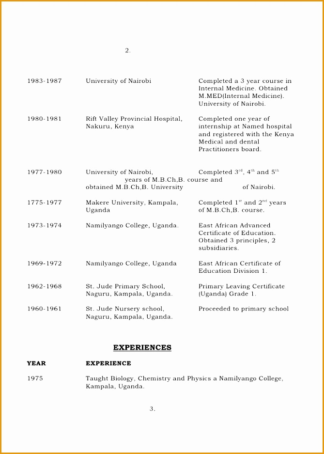 Resume Curriculum Vitae Examples Kenya click here to cv 2937669
