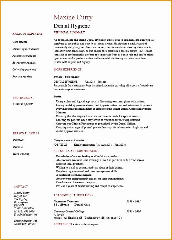 6 dentist curriculum vitae templates