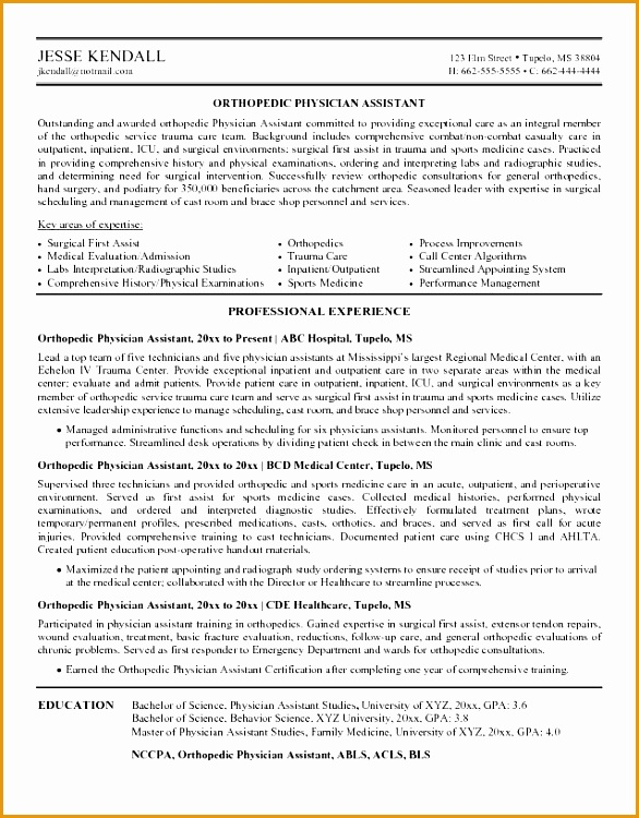 physician assistant resume to ideas how to make attractive resume 11 Resume For Doctors750586