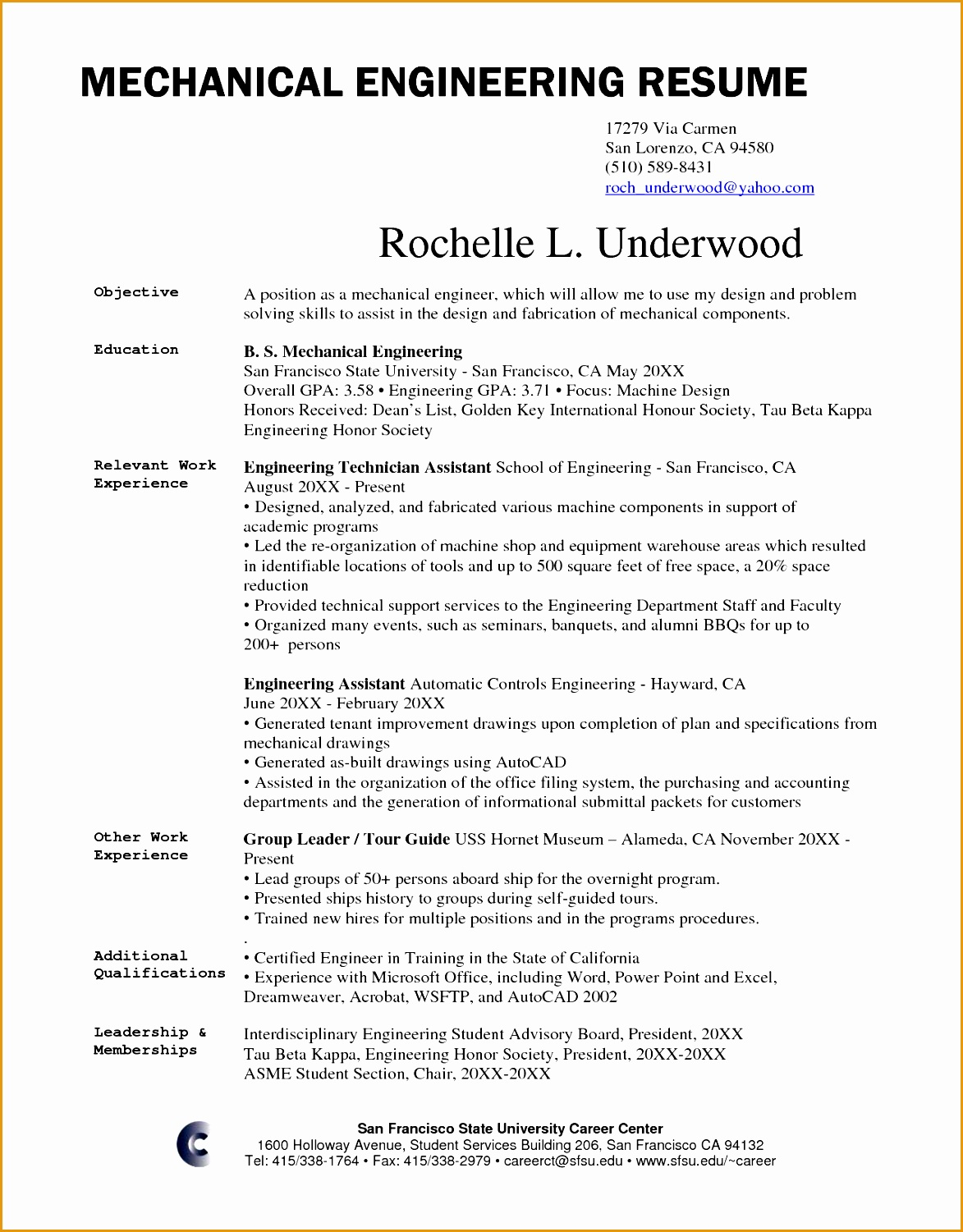 chief mechanical engineer sample resume resume for teaching profile