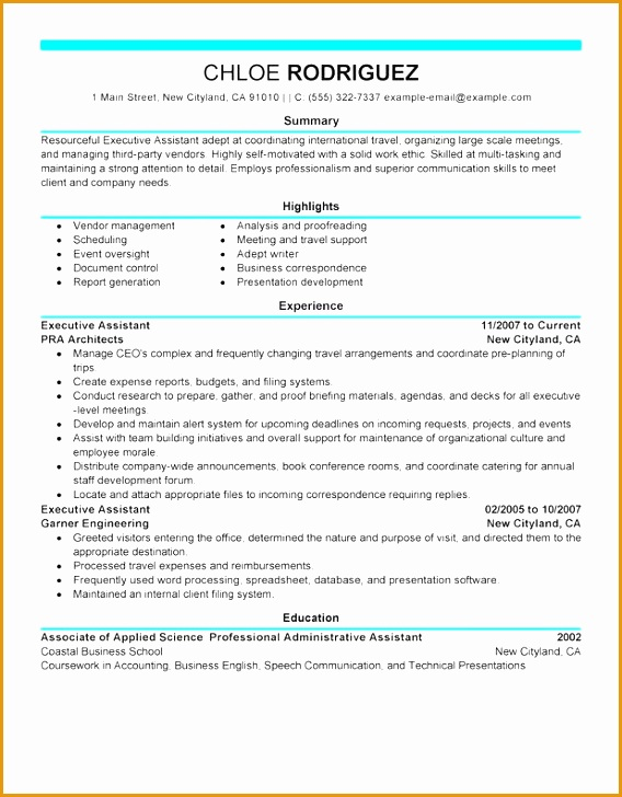 executive assistant administration and office support