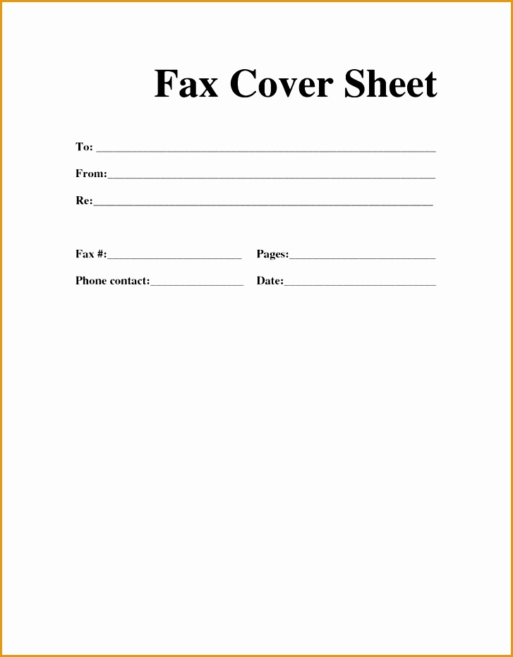 Fax Cover Sheet Resume Template 791x1024