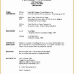 6 Free Blank Chronological Resume Template