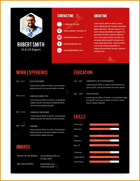 creative professional resume templates 10 creative resume free psd templates phire base v7 templates