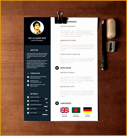 creative resume template word 28 minimal creative resume templates psd word ai free templates
