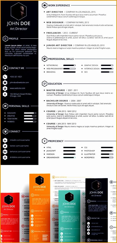 free CV Resume psd template 7