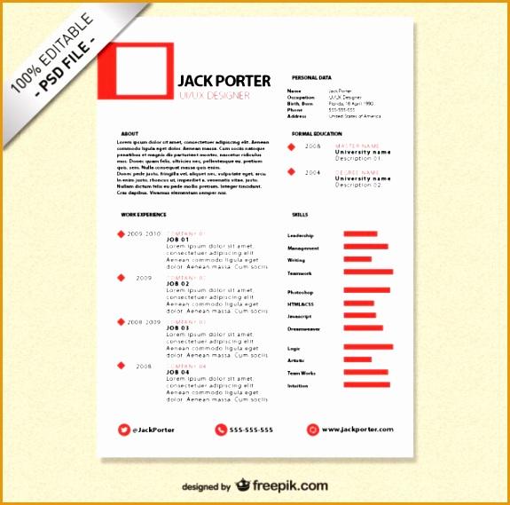 creative resume template free 23