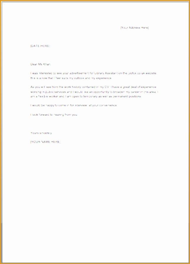 Free Sample Cover Letter For Job893643