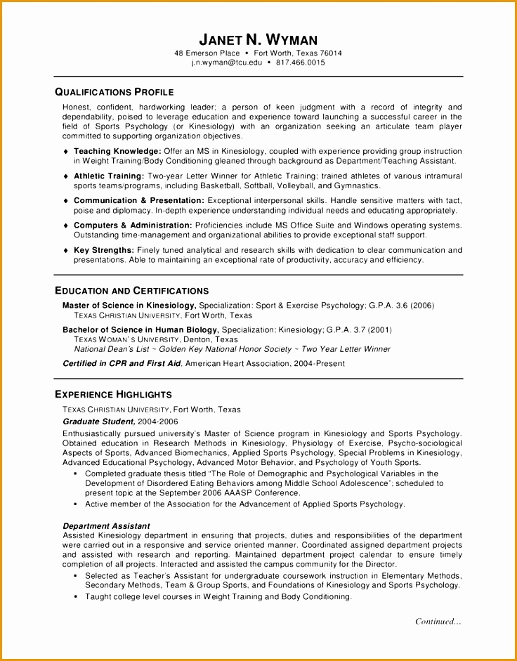 Grad school admission resume objective