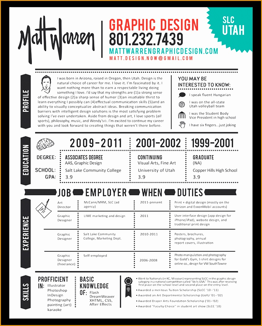 Graphic design resume1055847