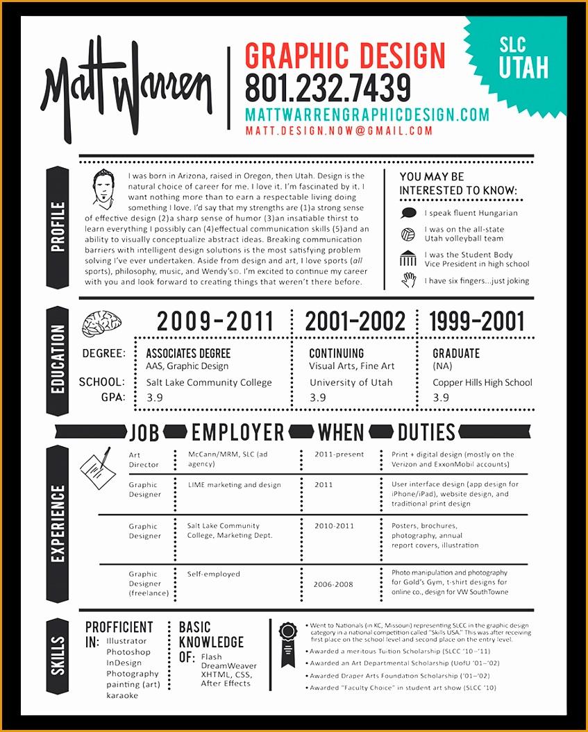 Graphic design resume1055847