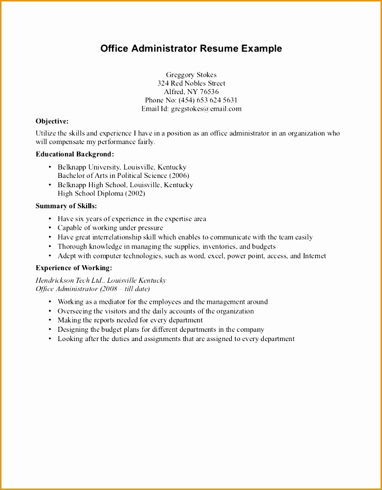 sample resume for college student with little experience energy