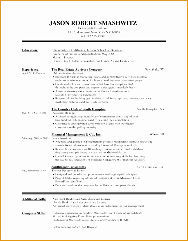 Examples Of Hospitality Management Resumes