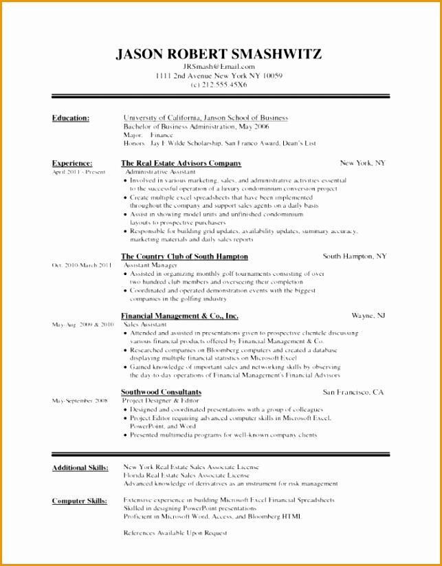 6 hospitality curriculum vitae