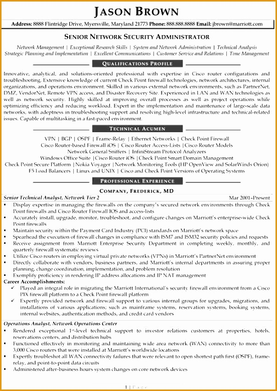 Senior Network Security Administrator Senior Network Security Administrator Resume Example778552