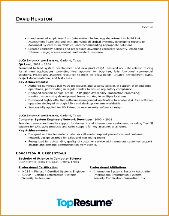 Technology Resume Template It Resume Sample720563