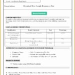 7 Job Resume format Download Microsoft Word