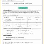 7 Job Resume format Download Microsoft Word