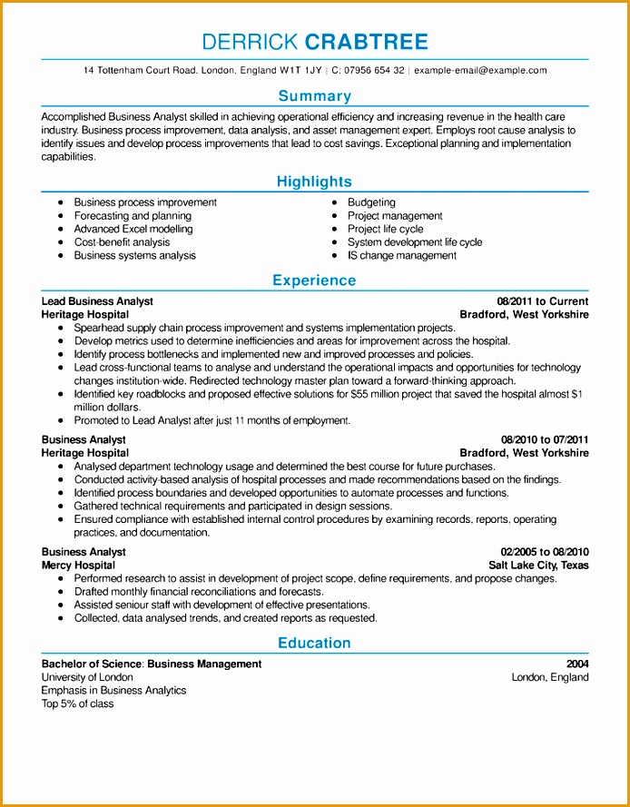business analyst resume example contemporary 5 full