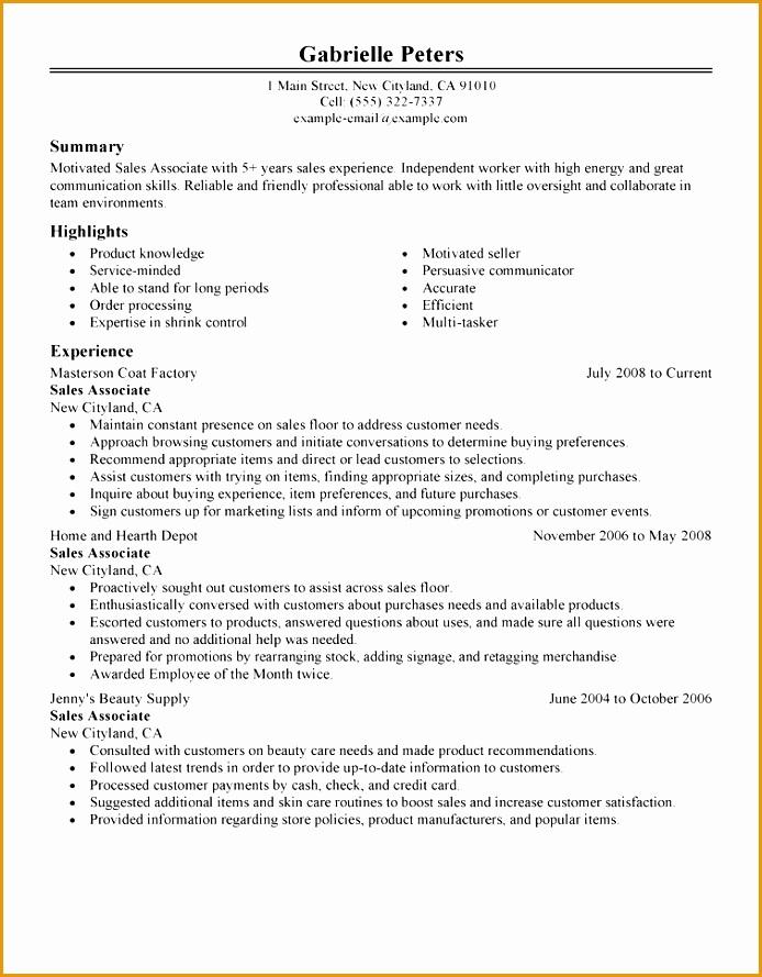 sales associate sales resume example classic 1 full