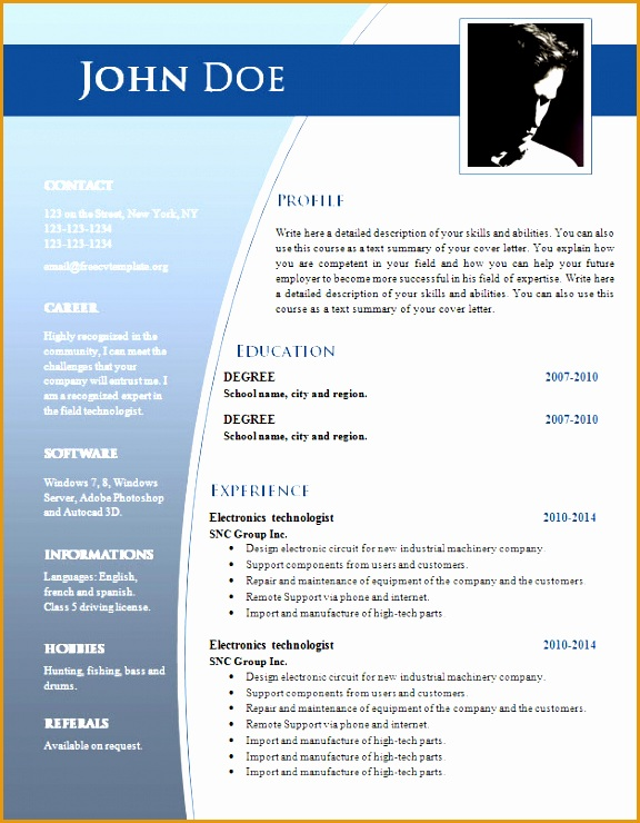 resume templates word doc cv templates for word doc 632 638 freecvtemplate