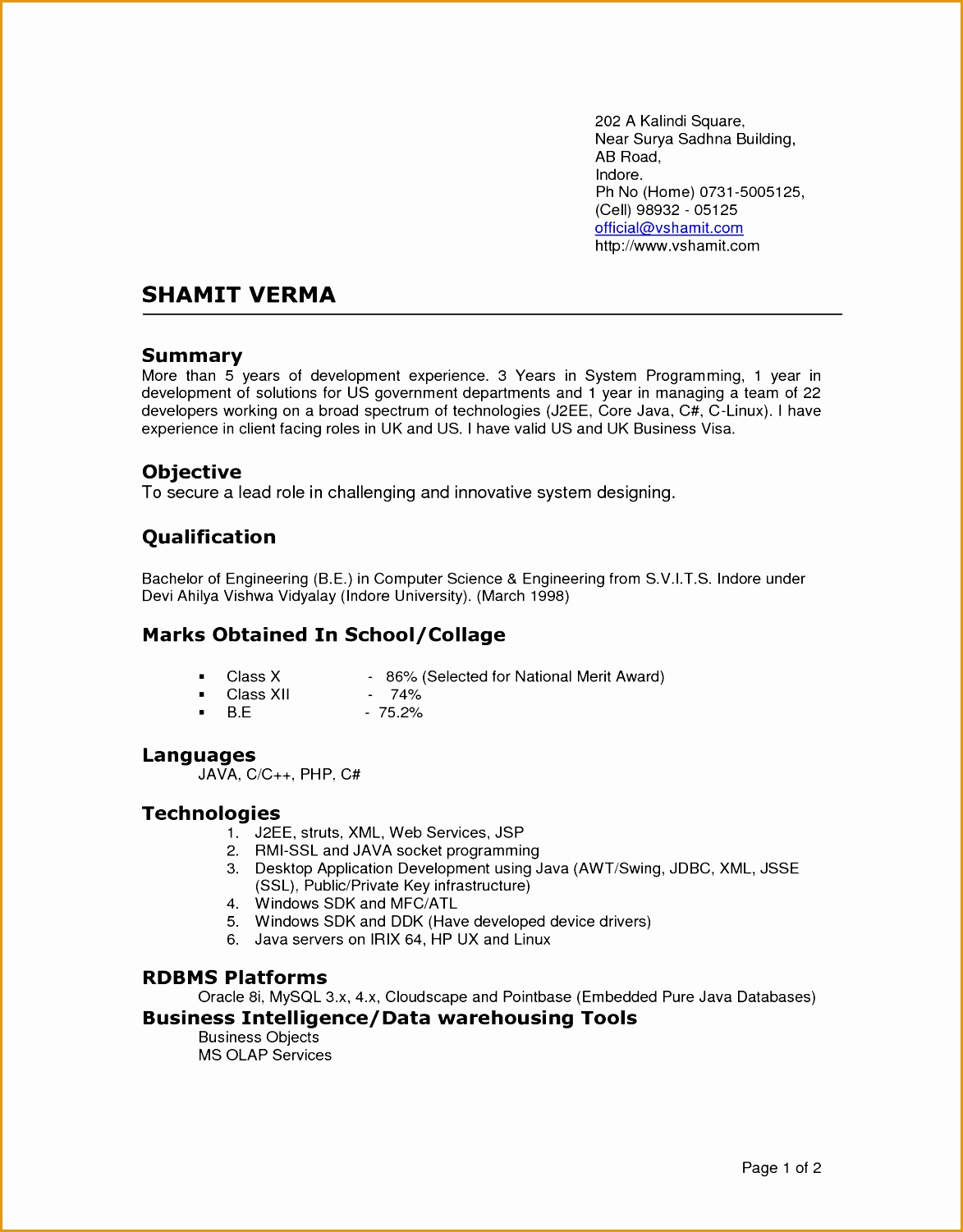 5 latest cv templates doc