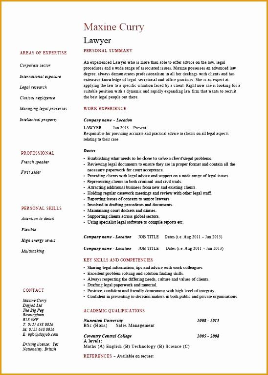 Lawyer CV template legal jobs curriculum vitae job application solicitor CV court of law CVs766548