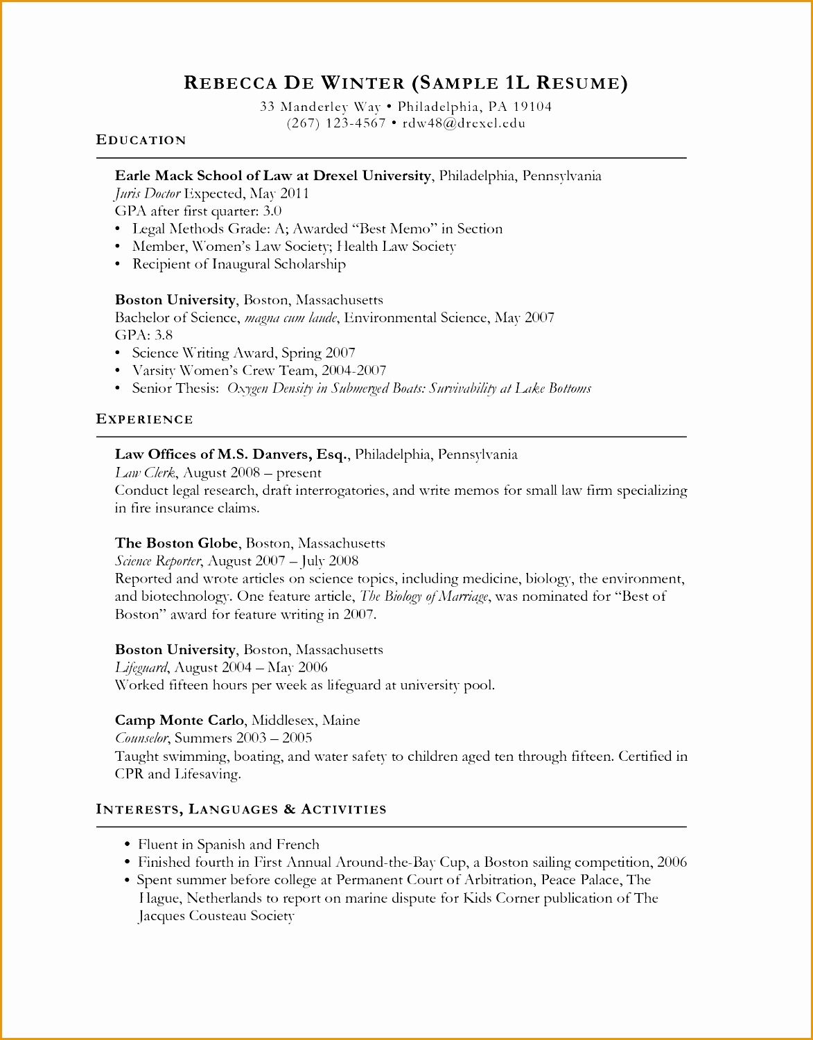 Law Resume Resume Sample Format Law School Resume Sample And Get Ideas To Create Your Resume15011173