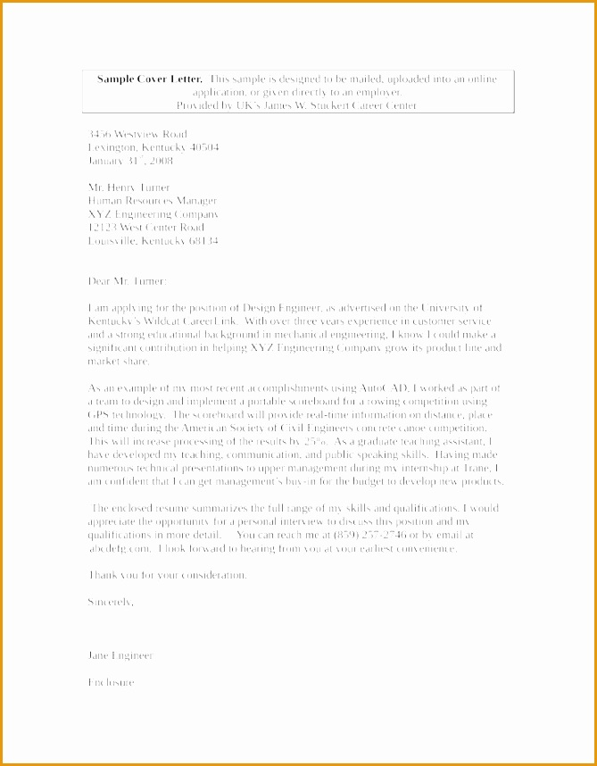 Basic Mechanical Design Engineer Cover Letter Sample Cover Letter858669